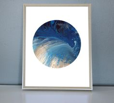 NEPTUNE - Blue, light blue, silver, White Moon/Planet Art Print 8X10, 11X14 by PrettyPaperPlaceShop on Etsy Blue And Silver, Planets, Light Blue, Tapestry, Moon, Art Prints, Unique Jewelry, Handmade Gifts, Artwork