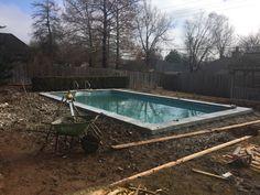 During  Sonrise Gunite Pool  #gunite #poolcoping #concrete #rocksaltpittedfinish #poolreplaster #repair  #MikeFournierTulsa #SonriseConstruction https://sonrisegunitepools.com/
