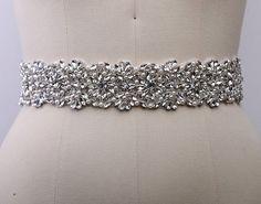 Bridal Sashes Wedding Dress Belts Crystal by XiaoYuBridalBoutique