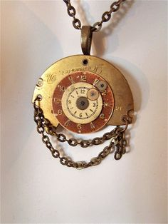 Steampunk Necklace - Juncture - Repurposed art