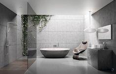 Badezimmer_Beton_grau_freistehende-Badewanne_Fugenloser-Boden_Christoph-Baum_www.stil-fabrik.com