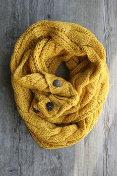 The Perfect Scarf Must have Mustard by Northernly on Etsy, $36.00