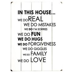 In This House Wall Decor.
