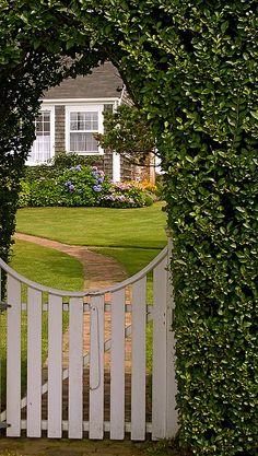 Nantucket secret garden