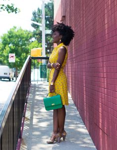Robe jaune à motifs And other stories - Simply Cyn