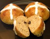 Hot Cross Buns Recipe: Hot Cross Buns are a traditional favorite for Good Friday, Easter, and throughout the Lent season, but they are enjoyable year-round. Yeasty rolls are filled with currants or raisins and nuts, then topped with a cross of icing. In spite of the raisins and icing, these are not sweet rolls. The hazelnuts are optional.