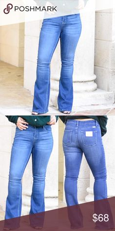 164a5f0b198 Medium Wash Flare Jeans Our most popular flared kancan jeans are back in a  new wash