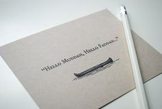 Cool camp stationery for kids | Hello Muddah, Hello Faddah on Etsy. Love this!