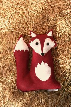 Forest Critters Red Fox with Oak Leaf Eco Friendly door SavageSeeds, $34.00