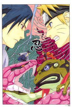 Mangá Naruto de Masashi Kishimoto.