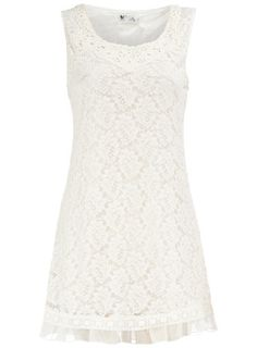 love this white lace dress