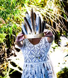 DIY feather crown!