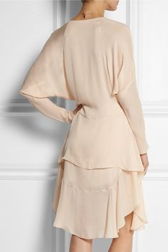 Blush silk-georgette Slips on  100% silk Dry clean  Designer color: Skin Pink