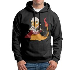 Pokemon Charmander 2 Mens Pullover Hooded Tops Black * Details can be found by clicking on the image.(This is an Amazon affiliate link)