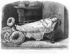 Queen Sophie of The Netherlands, princess of Württemberg on her deathbed, 1877