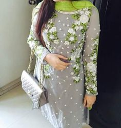 Very Nice beautifull suit awesome floral embroidery get it customized at @nivetas https://www.facebook.com/punjabisboutique whatsapp +917696747289 world wide shipping      #PunjabiSalearSuit  Punjabi Suit punjabi churidar suit