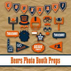 2016 Super Bowl 50 Printable Football Photo Booth Props | Glitter 'N' Spice