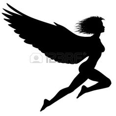 Angel Silhouette Stock Photos, Pictures, Royalty Free Angel ...