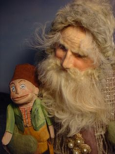 Santa with my Palmer Cox Doll, times gone past.  Norma DeCamp