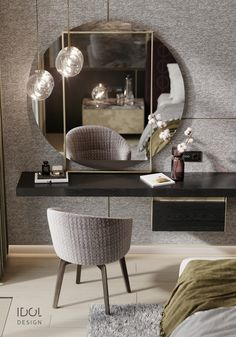 Dressing table for the guest bedroom. Interior Design Software, Interior Design Images, Salon Interior Design, Bedroom Bed Design, Home Room Design, Modern Bedroom, Living Room Decor, Bedroom Decor, Bedroom Table