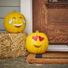 Using spray paint and magnets, DIY Network shows you how to create these fun, easy emoji pumpkins for Halloween.