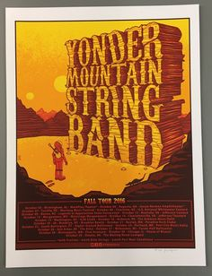 Image of Yonder Mountain String Band - Fall Tour 2016 - Regular Edition - by Jim Mazza