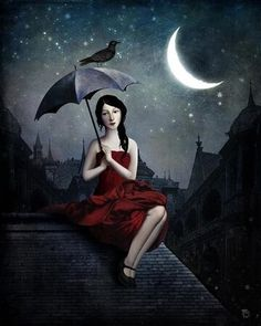 Anything can happen in a world that holds such beauty - Christian Schloe is a talented Chilean artist whose work includes digital art, painting, illustration, and photography. Digital Painter, Creation Photo, Saint John, Pop Surrealism, Moon Art, Surreal Art, Oeuvre D'art, Collage Art, Fantasy Art