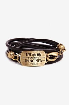 Mantra Live Live the life you have imagined Mixed-Metals Bracelet