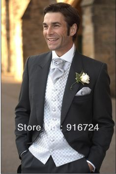 2013 Hot Selling Fashion Satin  Long  Black Groom wedding suits Tuxedos Groomsmen Suits Jacket +pant  US $35.99