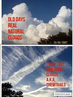 Not com trails,this is Geoengineering chem trails. slow kill.