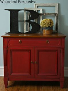chiffonnier relook style industriel rouge rouge. Black Bedroom Furniture Sets. Home Design Ideas