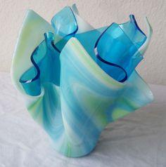 C & J Designs | Fused Glass Art Vase | Online Store Powered by Storenvy