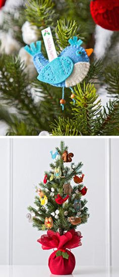 Holidays merry and bright tabletop tree designed by Hallmark artist Susan Crilley #Hallmark12Gifts