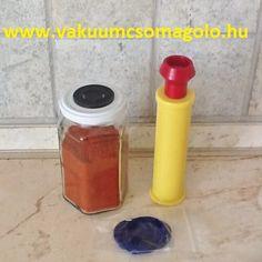 fűszer paprika tárolása olcsó vákuumpumpával Hot Sauce Bottles, Food, Sous Vide, Hoods, Meals