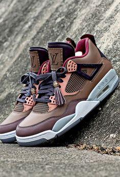 Lifestyle of Mr.X — Nike Air Jordans x Louis Vuitton collab Nike Free Shoes, Nike Custom Shoes, Custom Jordan Shoes, Custom Jordans, Custom Sneakers, Nike Shoes Outlet, Louis Vuitton Shoes Sneakers, Lv Sneakers, Lv Shoes