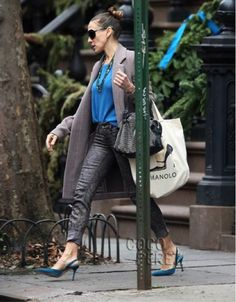 Get Sarah Jessica Parker's NYC street style look for less using all designer clothing.