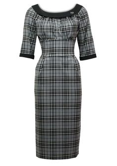 1960s Secretary Dress - Fashion 1930s, 1940s & 1950s style - vintage reproduction