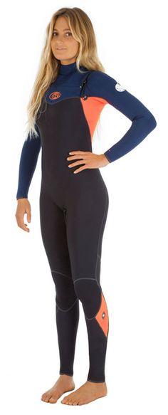 4/3mm Women's Rip Curl FLASH BOMB Full Wetsuit - Black/Pink, 14 #RipCurl