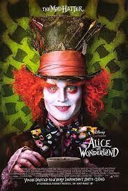 Alice in Wonderland movie poster with Johnny Depp, Mia Wasikowska, Anne Hathaway, and Helena Bonham Carter durected by Tim Burton Mia Wasikowska, Wonderland Party, Alice In Wonderland, Wonderland Costumes, Movies Showing, Movies And Tv Shows, Art Visage, Halloween Karneval, Cinderella