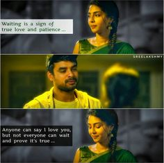 Signs Of True Love, True Love Quotes, Waiting For Someone Quotes, Movie Quotes, Life Quotes, Malayalam Quotes, Girl Facts, Actors Images, L Love You