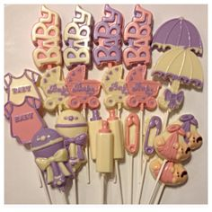 Baby and baby Shower chocolate lollipops Custom by Sparklesbaby