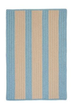 Colonial Mills AL Outdoor Boat House Braided Light Blue Rug | 2x6