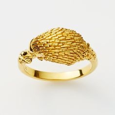 Echidna Ring in Gold Plate - Small: Pink LouLou