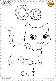 Alphabet Letter Crafts, Alphabet Tracing Worksheets, Printable Preschool Worksheets, Alphabet Coloring Pages, Alphabet For Kids, Free Preschool, Alphabet Activities, Worksheets For Kids, Tracing Letters