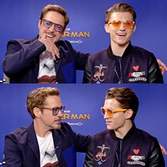 Tom crashed one of RDJ's interviews with glasses and all hahaha, playback for the face time call  I love these two ♡