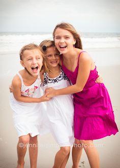 sisters, 3 girls, ocean, silly, laugh, life, beach, ocean, coast, carolina beach nc, wrightsville beach nc, wilmington nc, photoraphy