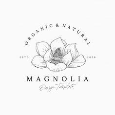 Logo Floral, Flower Logo, Hand Drawn Logo, Hand Logo, Vector Design, Logo Design, Logo Minimalista, Florist Logo, Page Layout Design
