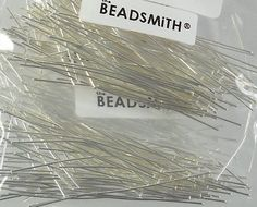 BEADSMITH Silver-Plated FLAT Headpins 2.5 by HalfPennyBoutique