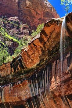 Lower Emerald Pools Falls, Zion National Park \\ Matt Russell
