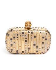 Alexander McQueen Art Deco gold box clutch